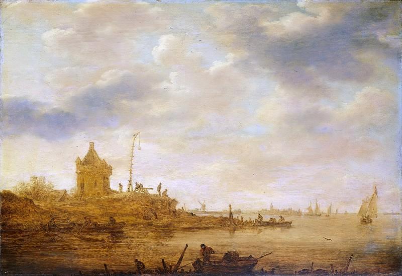 Goyen, Jan van -- Riviergezicht met wachtpost, 1644. Rijksmuseum: part 4