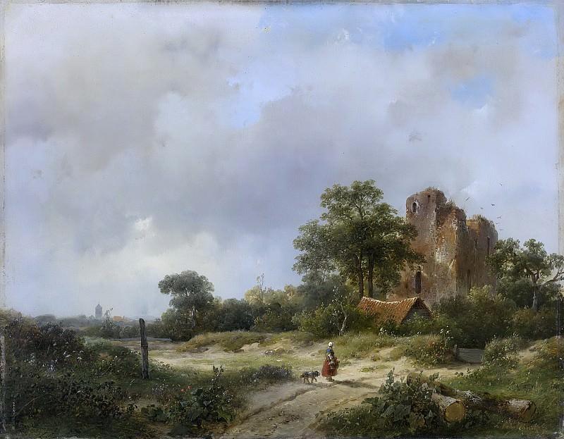 Schelfhout, Andreas -- Landschap met de ruïne van kasteel Brederode te Santpoort, 1844. Rijksmuseum: part 4