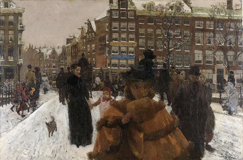 Breitner, George Hendrik -- De Singelbrug bij de Paleisstraat te Amsterdam, 1896. Rijksmuseum: part 4