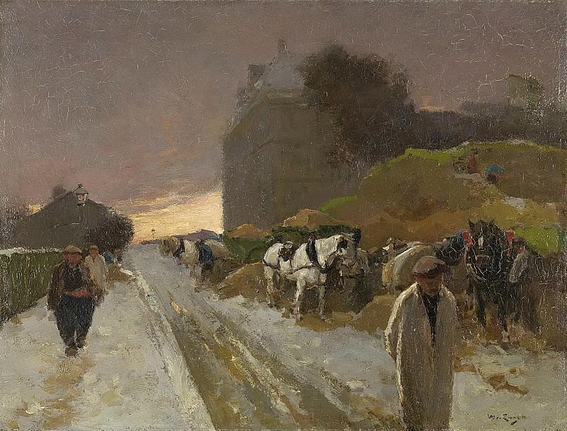 Zwart, Willem de -- Straat in Montmartre, Parijs, bij winter, 1885-1931. Rijksmuseum: part 4