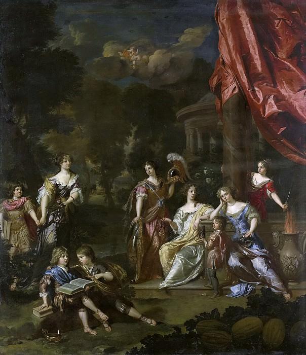 Даниёль Мейтенс (II) - Аллегорический портрет детей Дидерика П. ван Леувена, бургомистра. Рейксмузеум: часть 4