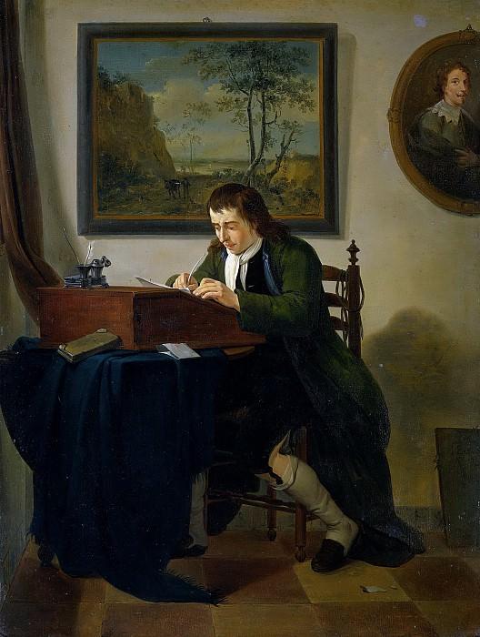 Ekels, Jan (II) -- Een man schrijvend aan zijn lessenaar, 1784. Rijksmuseum: part 4