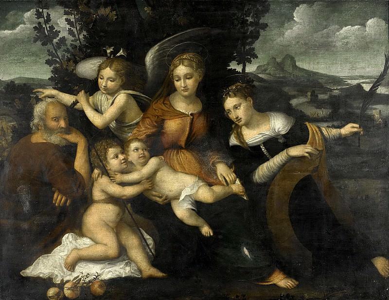 Torbido, Francesco -- De heilige familie met de heilige Catharina, 1525. Rijksmuseum: part 4