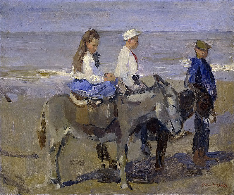 Israels, Isaac -- Jongen en meisje op ezeltjes, 1896-1901. Rijksmuseum: part 4