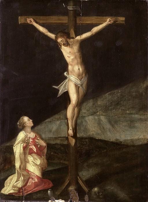 Unknown artist -- Maria Magdalena bij het kruis, 1610. Rijksmuseum: part 4