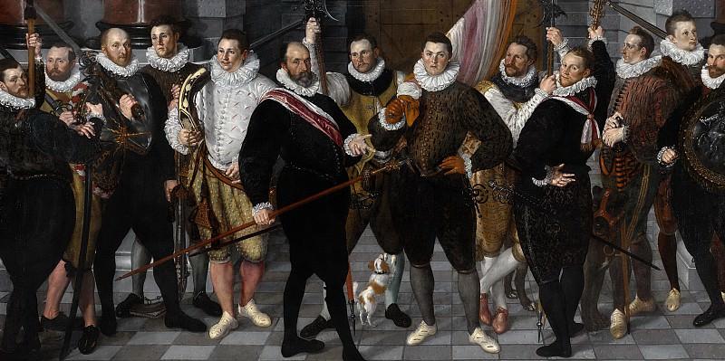 Корнелис Кетель -- Отряд ночной стражи капитана Дирка Якобса Розекранса и лейтенанта Паува, Амстердам, 1588. Рейксмузеум: часть 4
