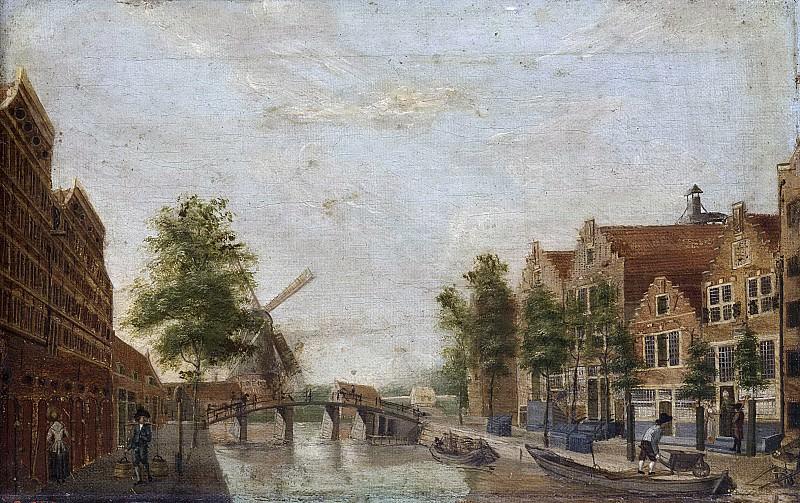 Unknown artist -- De Brouwersgracht te Amsterdam, 1750-1799. Rijksmuseum: part 4