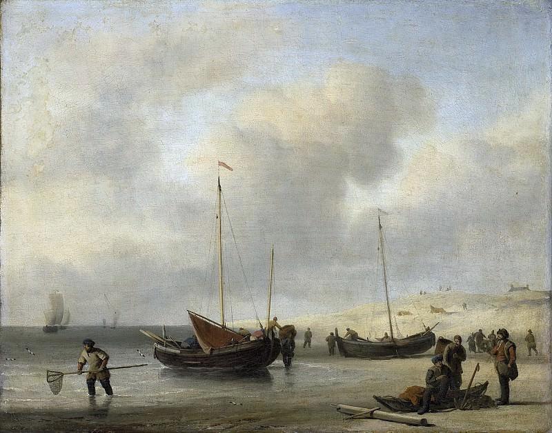 Velde, Willem van de (II) -- Vissersschepen aan het strand, 1650-1707. Rijksmuseum: part 4