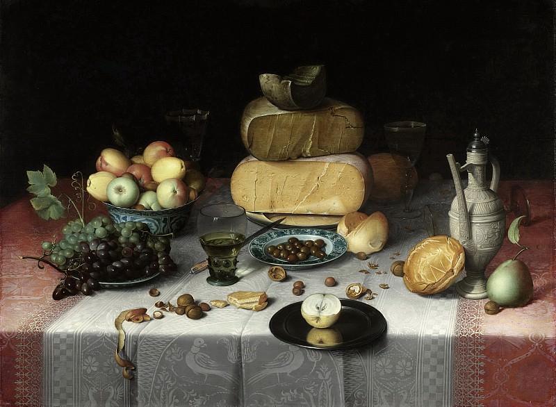 Dijck, Floris Claesz. van -- Stilleven met kazen, 1615. Rijksmuseum: part 4