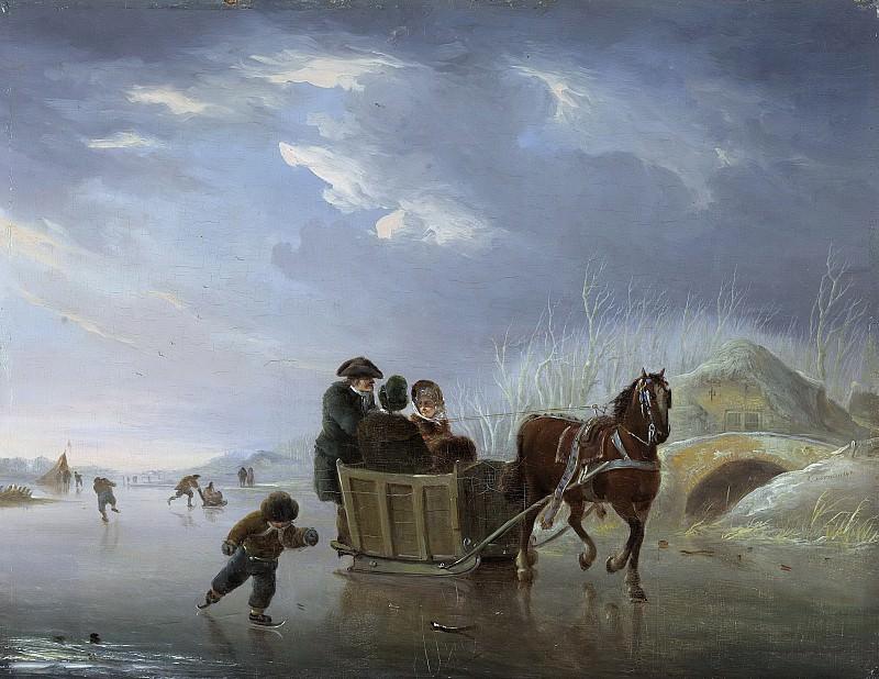 Андрис Вермёлен -- Быстрые сани на льду, 1790-1814. Рейксмузеум: часть 4
