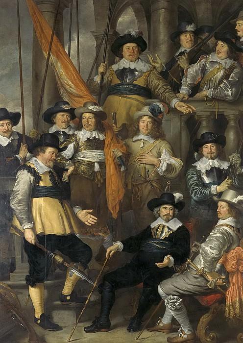 Flinck, Govert -- Officieren en andere schutters van wijk XVIII in Amsterdam onder leiding van kapitein Albert Bas en luitenant Lucas Conijn, 1645. Rijksmuseum: part 4