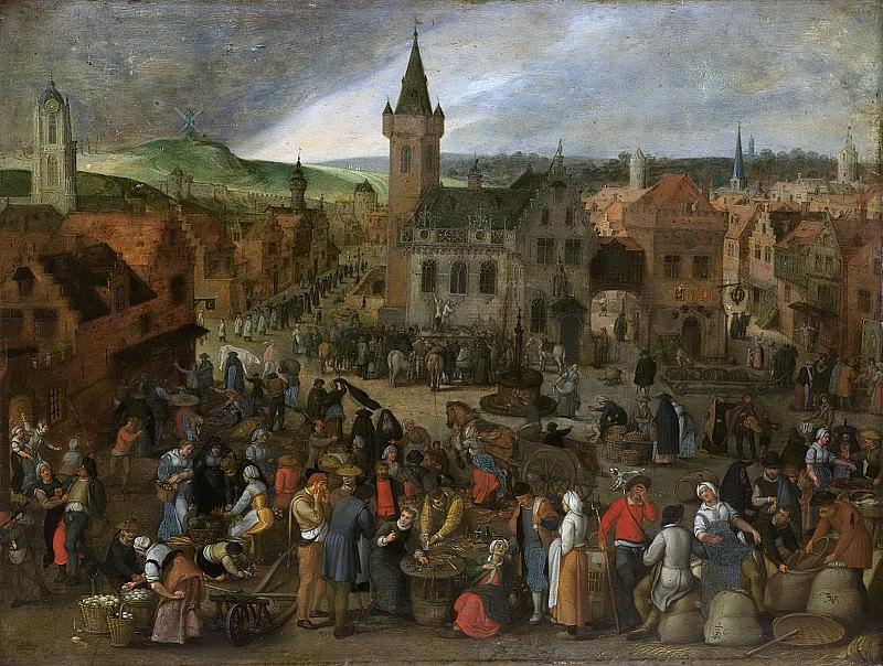 Vrancx, Sebastiaan -- Marktdag in een Vlaamse stad, 1600-1647. Rijksmuseum: part 4