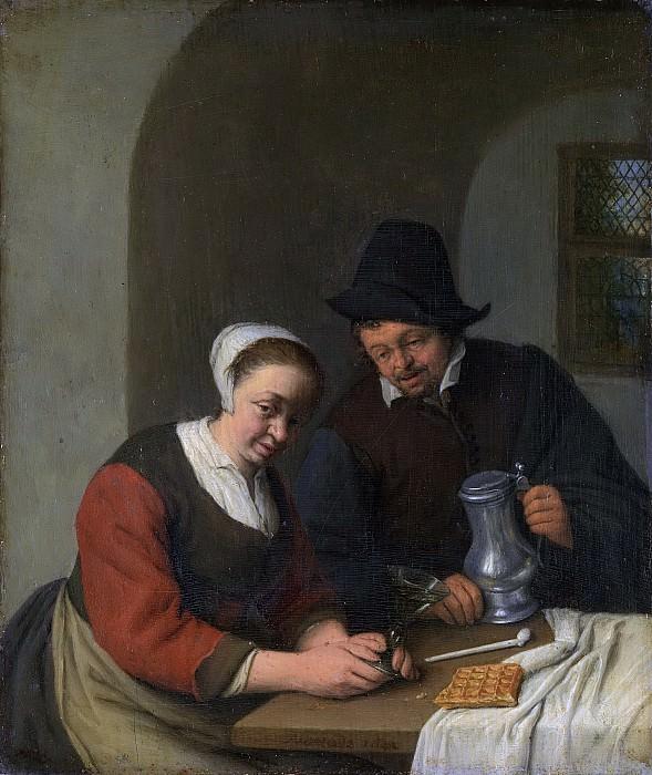 Ostade, Adriaen van -- Het vertrouwelijk onderhoud, 1672. Rijksmuseum: part 4