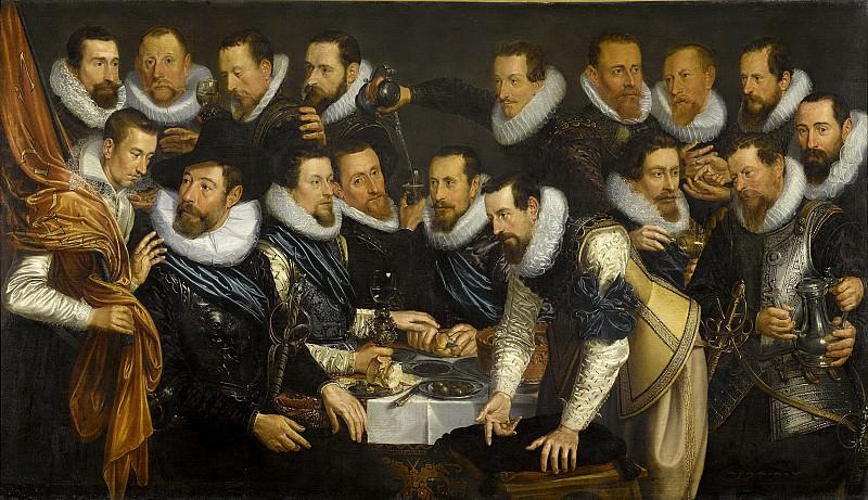 Tengnagel, Jan -- Officieren en andere schutters van wijk XI in Amsterdam, 1613. Rijksmuseum: part 4