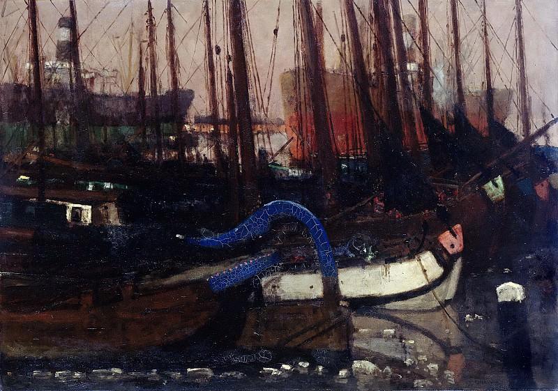 Breitner, George Hendrik -- Schepen in het ijs, 1901. Rijksmuseum: part 4