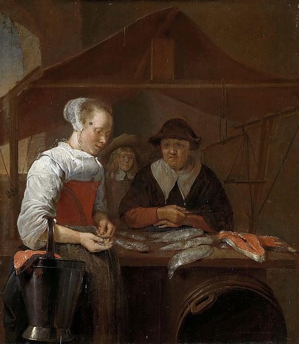 Brekelenkam, Quiringh Gerritsz. van -- De visvrouw, 1650-1670. Rijksmuseum: part 4