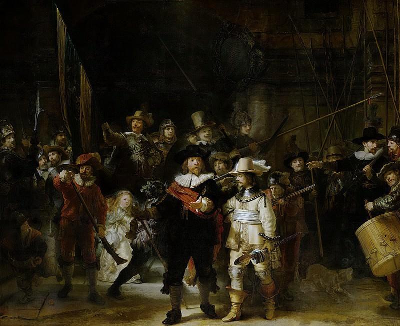 Рембрандт, Харменс ван Рейн -- Ночной дозор, 1642. Рейксмузеум: часть 4