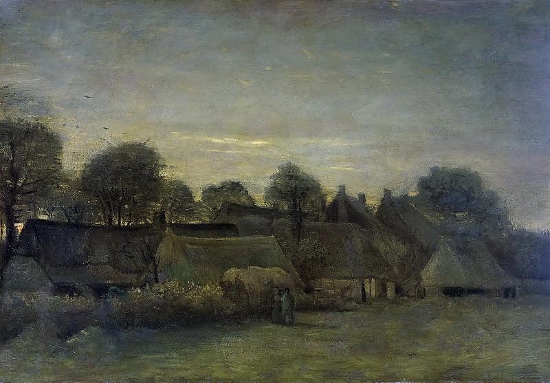 Gogh, Vincent van -- Boerendorp in de avond, 1884. Rijksmuseum: part 4