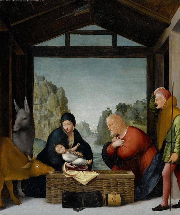 Suardi, Bartolommeo -- De aanbidding der herders, 1500-1535. Rijksmuseum: part 4