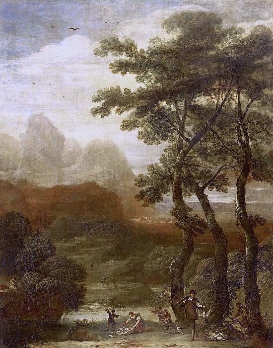 Iriarte, Ignacio de -- Landschap met jagers, 1640-1685. Rijksmuseum: part 4