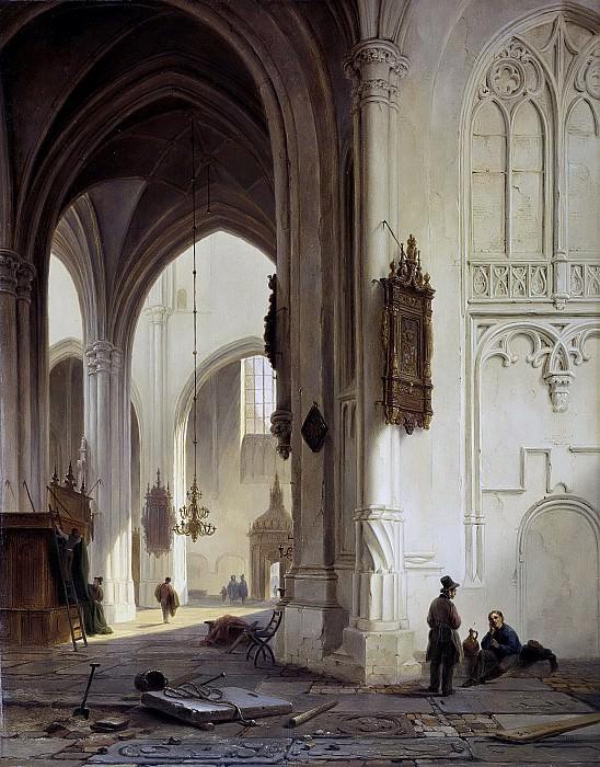 Бартоломеус Йоханнес ван Хове -- Внутри церкви, 1844. Рейксмузеум: часть 4