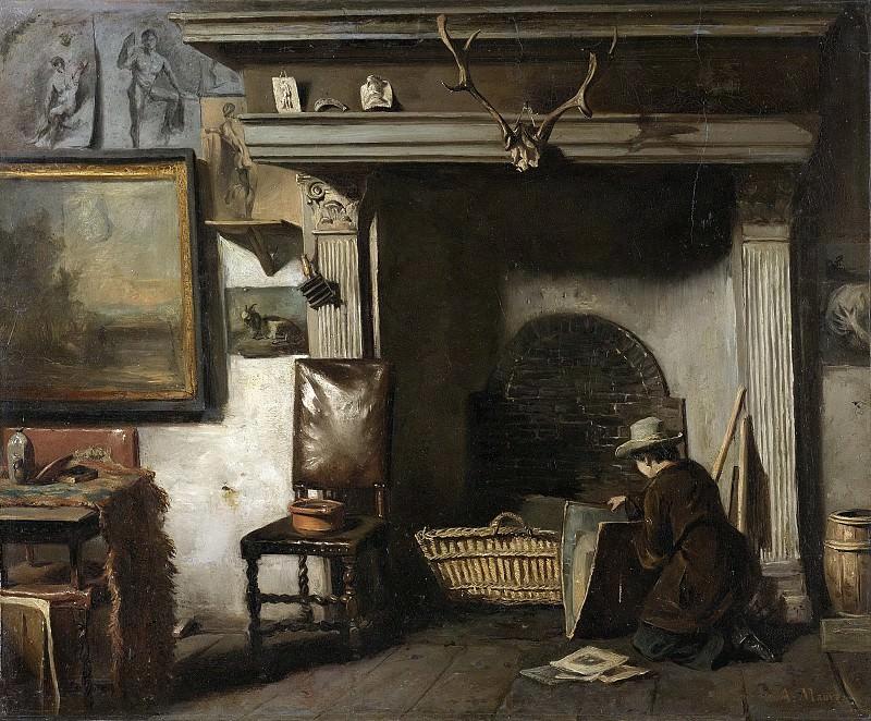 Mauve, Anton -- Het atelier van de Haarlemse schilder Pieter Frederik van Os, de leermeester van Mauve, 1855-1856. Rijksmuseum: part 4