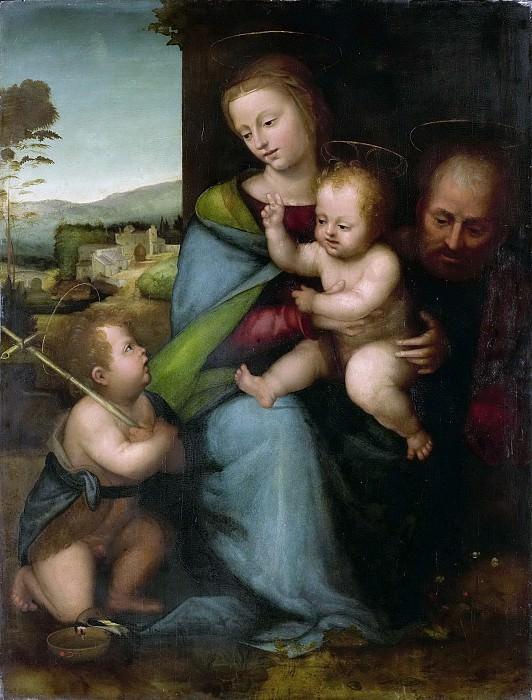 Фра Бартоломео -- Святое Семейство с маленьким Иоанном Крестителем, 1505-15. Рейксмузеум: часть 4