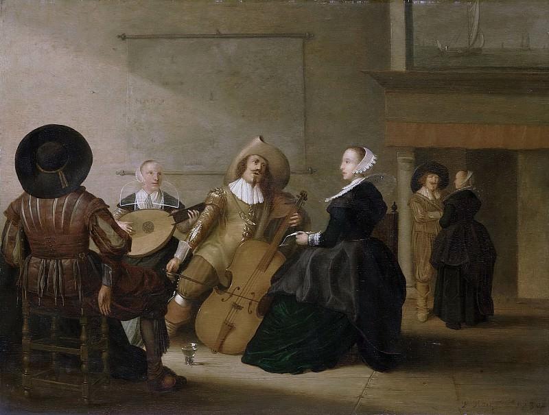 Potter, Pieter Symonsz. -- Musicerend gezelschap in een interieur, 1630. Rijksmuseum: part 4