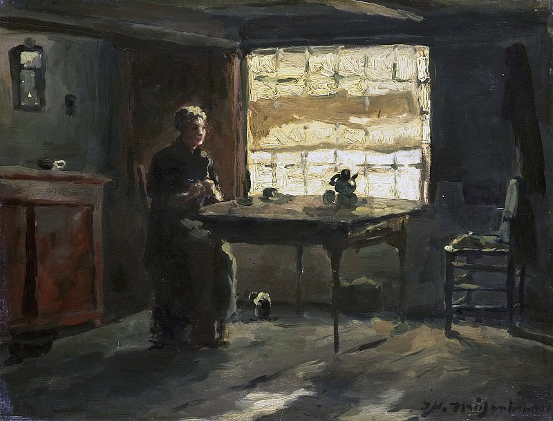 Weissenbruch, Johan Hendrik -- Boereninterieur, 1870-1903. Rijksmuseum: part 4