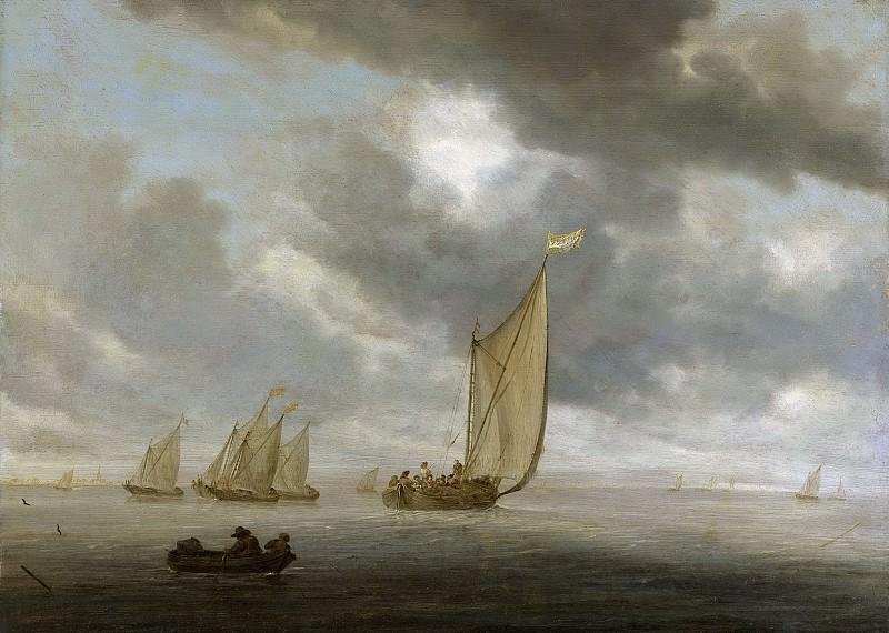 Ruysdael, Salomon van -- Zeilschepen op breed binnenwater, 1630-1670. Rijksmuseum: part 4