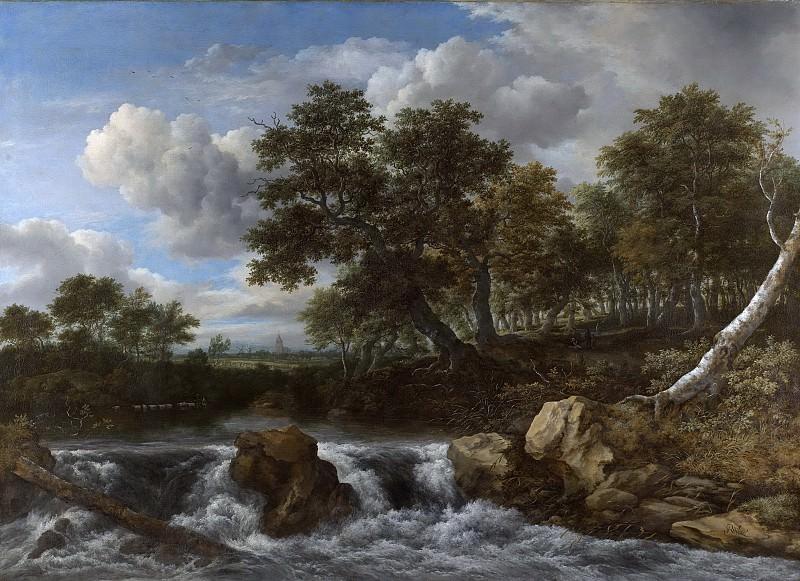 Ruisdael, Jacob Isaacksz. van -- Landschap met waterval, 1668. Rijksmuseum: part 4