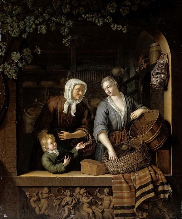 Mieris, Frans van (II) -- De kruidenierster, 1715. Rijksmuseum: part 4
