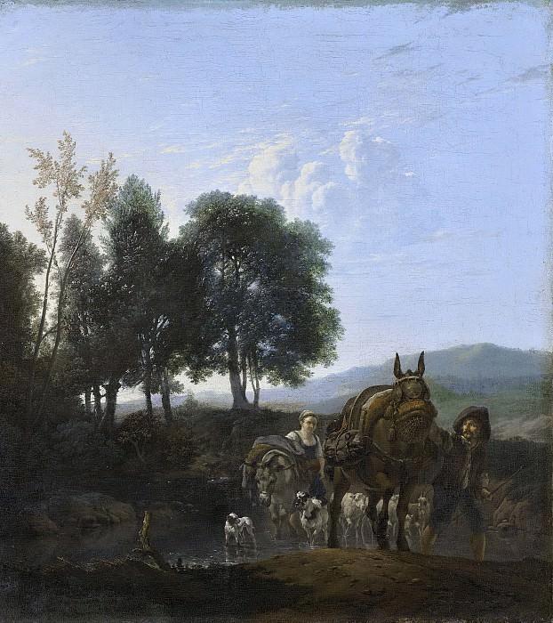 Dujardin, Karel -- Landschap met muilezeldrijver, 1650-1655. Rijksmuseum: part 4