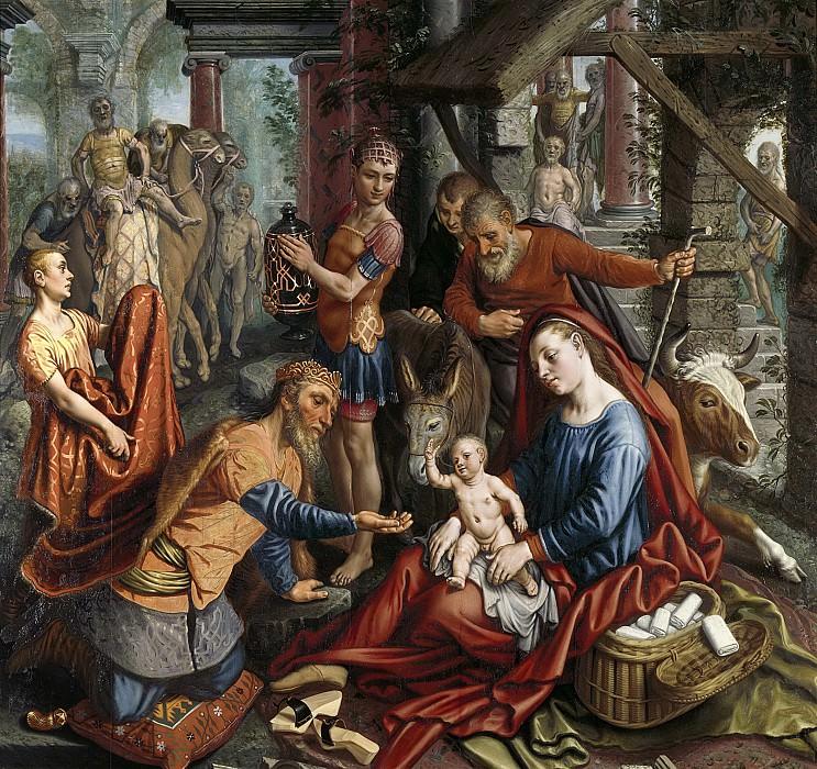 Aertsen, Pieter -- De aanbidding der koningen, 1570-1575. Rijksmuseum: part 4