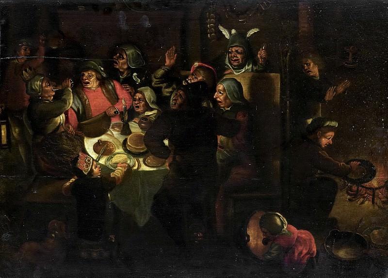 Unknown artist -- Driekoningenfeest, 1600-1649. Rijksmuseum: part 4