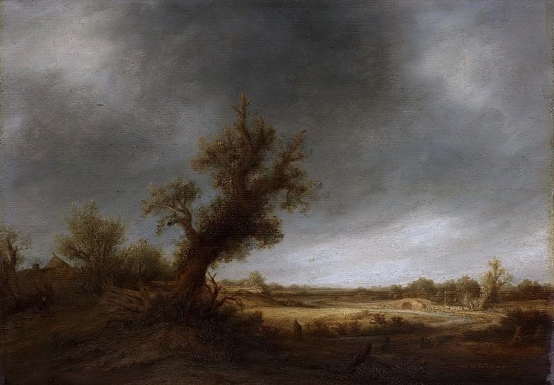 Ostade, Adriaen van -- Landschap met oude eik, 1640-1650. Rijksmuseum: part 4