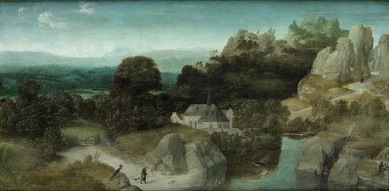 Patinir, Joachim -- Landschap met de verzoeking van de heilige Antonius de Heremiet, 1510-1520. Rijksmuseum: part 4