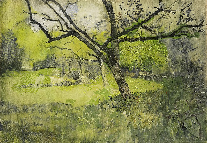 Ричард Роланд Хольст -- Фруктовый сад в Эмнесе, 1888-1895. Рейксмузеум: часть 4