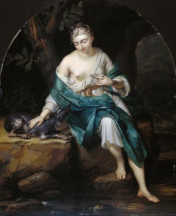 Херман ван дер Мейн -- Аллегорическая фигура женщины с собакой, 1719. Рейксмузеум: часть 4