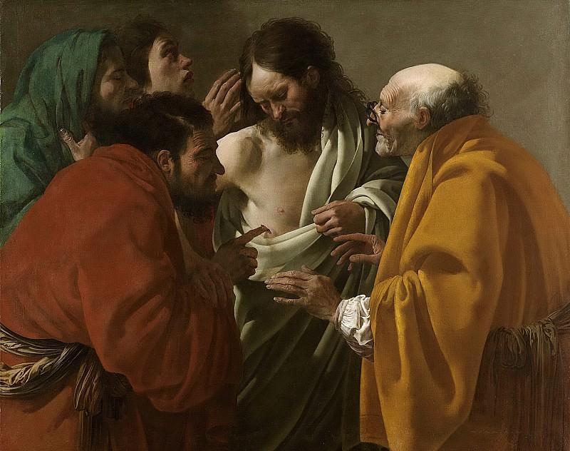 Хендрик Тербрюгген -- Фома неверующий, 1622. Рейксмузеум: часть 4