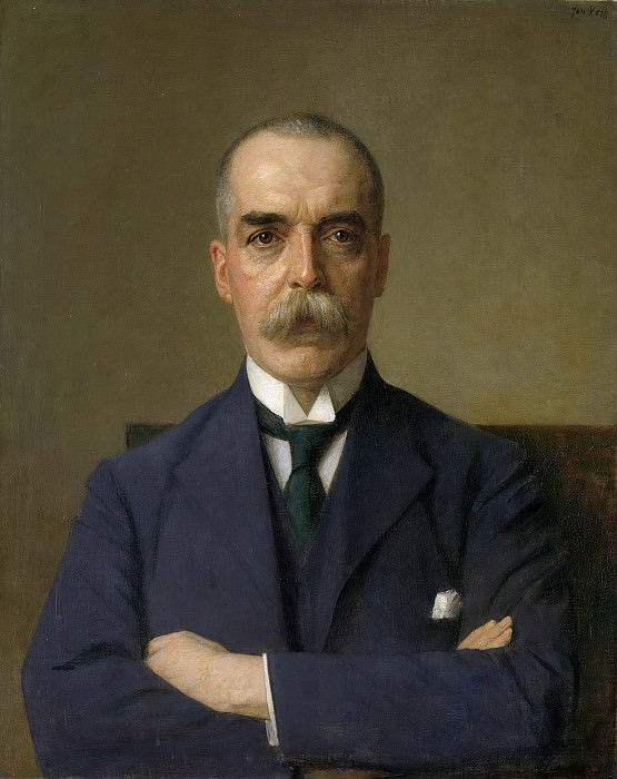 Veth, Jan -- Portret van Isaac de Bruijn (1873-1953), 1922. Rijksmuseum: part 4
