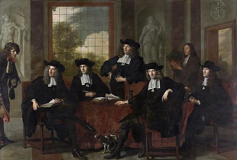 Backer, Adriaen -- De inspecteurs van het Collegium Medicum te Amsterdam, 1683., 1683. Rijksmuseum: part 4