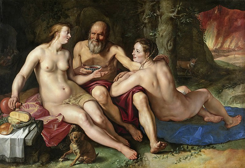 Хендрик Гольциус -- Лот и его дочери, 1616. Рейксмузеум: часть 4