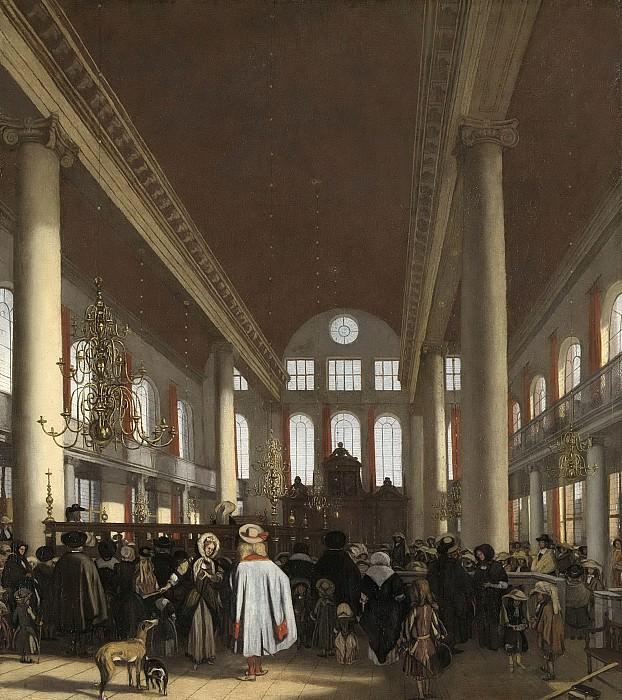 Witte, Emanuel de -- Interieur van de Portugese synagoge te Amsterdam, 1680. Rijksmuseum: part 4