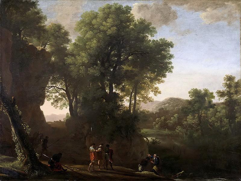 Swanevelt, Herman van -- Landschap met de doop van de Kamerling, 1630-1639. Rijksmuseum: part 4