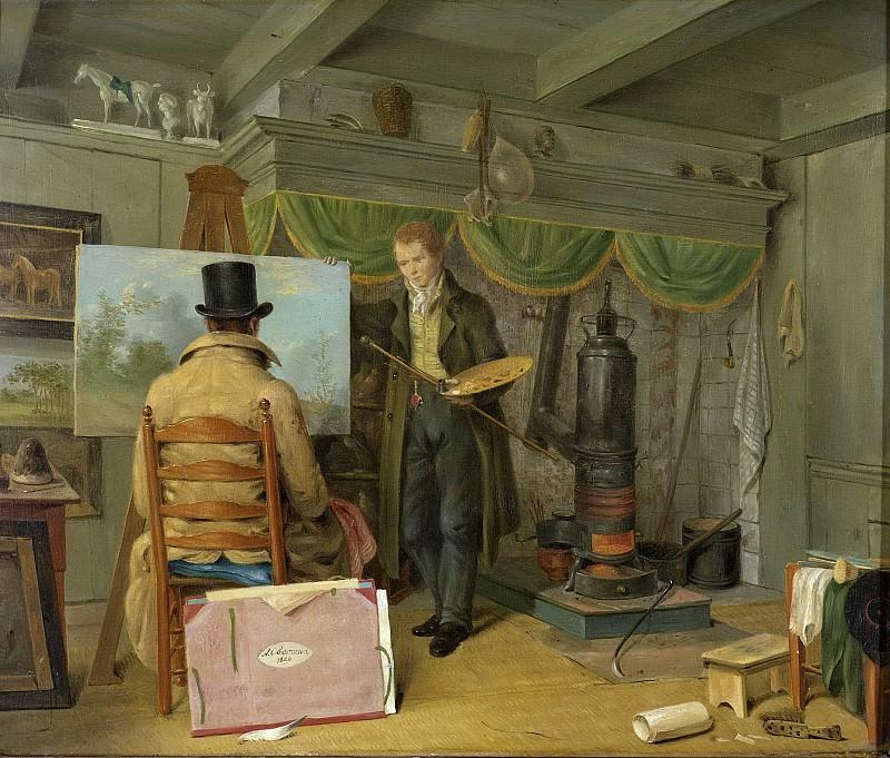 Oberman, Anthony -- De schilder in zijn atelier, 1820. Rijksmuseum: part 4