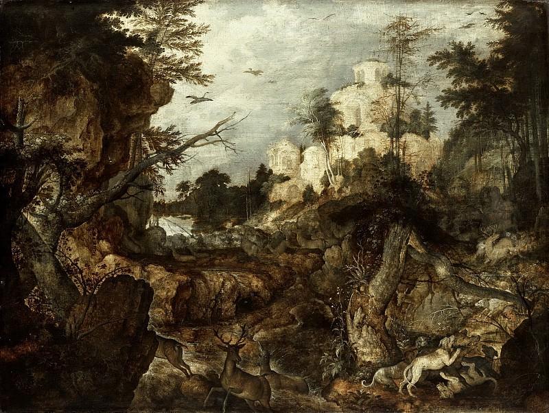 Рулант Саверей -- Охота на кабана в гористой местности, 1620. Рейксмузеум: часть 4