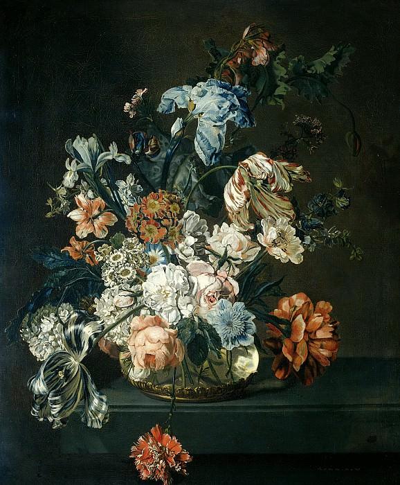 Mijn, Cornelia van der -- Stilleven met bloemen, 1762. Rijksmuseum: part 4