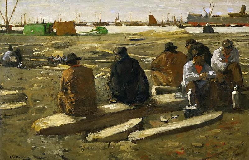 Breitner, George Hendrik -- Schafttijd in de bouwput aan de van Diemenstraat te Amsterdam., 1896-1900. Rijksmuseum: part 4