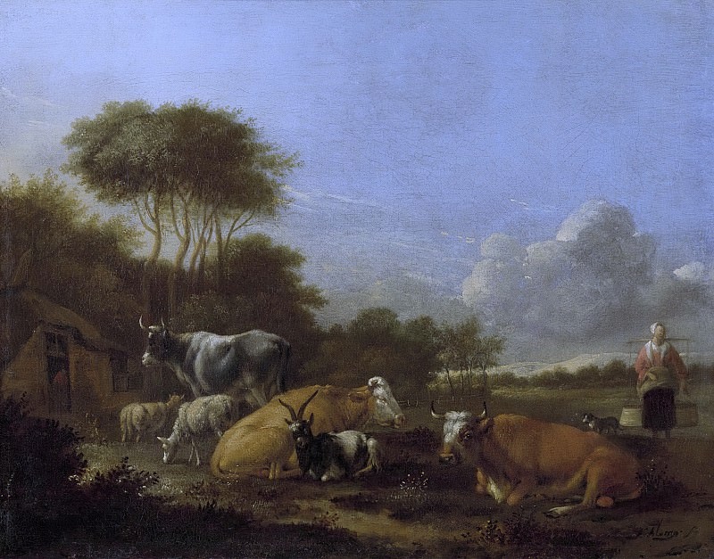 Klomp, Albert Jansz. -- Landschap met vee, 1640-1688. Rijksmuseum: part 4